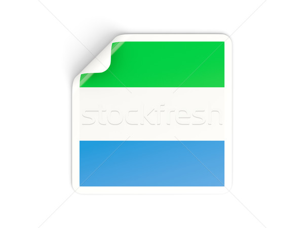 Square sticker with flag of sierra leone Stock photo © MikhailMishchenko