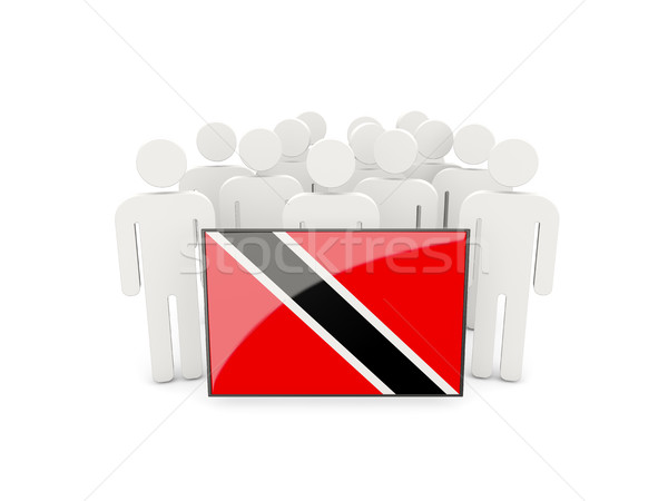 People with flag of trinidad and tobago Stock photo © MikhailMishchenko
