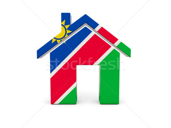 Casa bandera Namibia aislado blanco búsqueda Foto stock © MikhailMishchenko