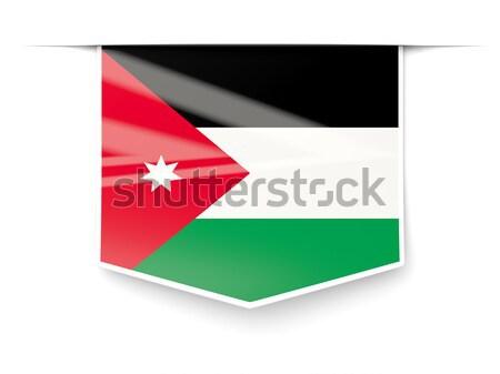 Square icon with flag of jordan Stock photo © MikhailMishchenko