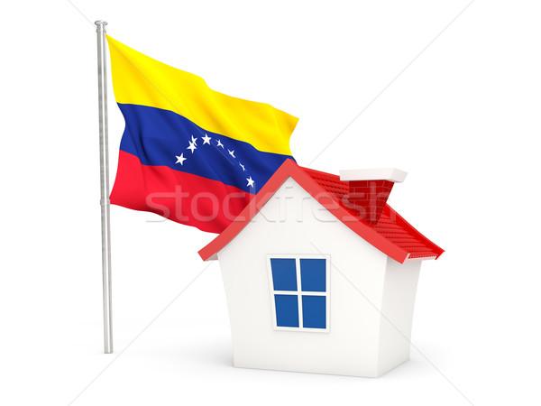 Huis vlag Venezuela geïsoleerd witte home Stockfoto © MikhailMishchenko
