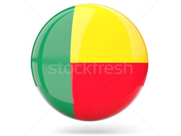 Icona bandiera Benin lucido segno bianco Foto d'archivio © MikhailMishchenko