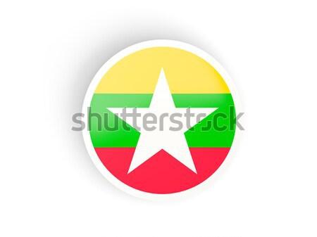 наклейку флаг Мьянма изолированный белый путешествия Сток-фото © MikhailMishchenko