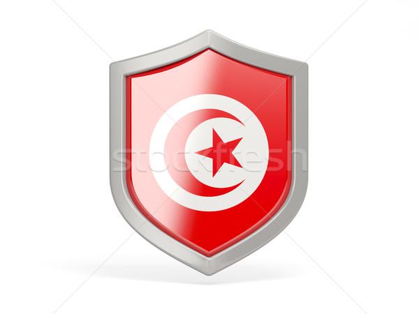 Shield icon with flag of tunisia Stock photo © MikhailMishchenko