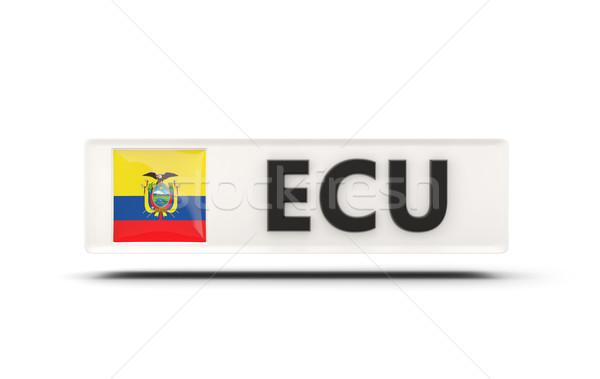 Vierkante icon vlag Ecuador iso code Stockfoto © MikhailMishchenko