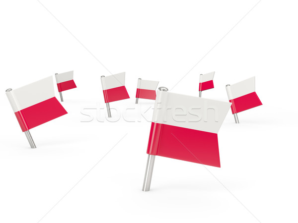 Square pins with flag of poland Stock photo © MikhailMishchenko