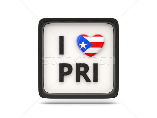 Liefde Puerto Rico teken geïsoleerd witte hart Stockfoto © MikhailMishchenko
