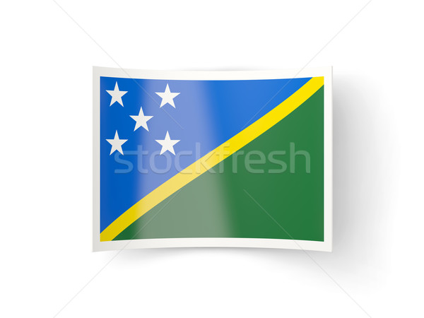 Icona bandiera Isole Salomone isolato bianco paese Foto d'archivio © MikhailMishchenko