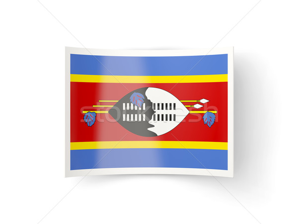 Bent icon with flag of swaziland Stock photo © MikhailMishchenko