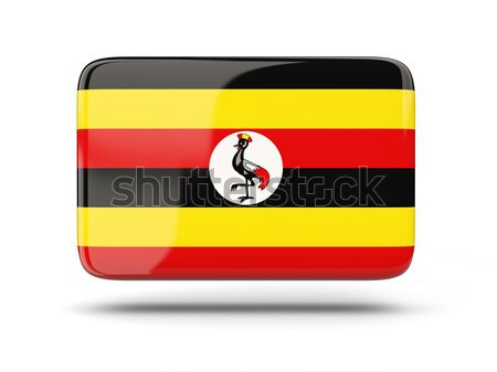 Tér ikon zászló Uganda árnyék felirat Stock fotó © MikhailMishchenko