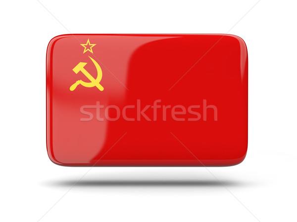 Square icon with flag of ussr Stock photo © MikhailMishchenko