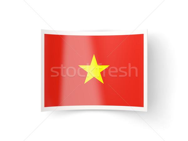 икона флаг Вьетнам изолированный белый стране Сток-фото © MikhailMishchenko