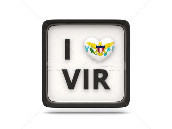 любви Виргинские о-ва знак изолированный белый флаг Сток-фото © MikhailMishchenko