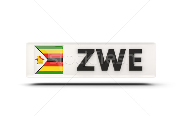 Piazza icona bandiera Zimbabwe iso codice Foto d'archivio © MikhailMishchenko