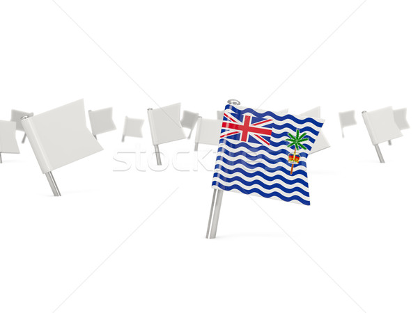 Square pin with flag of british indian ocean territory Stock photo © MikhailMishchenko