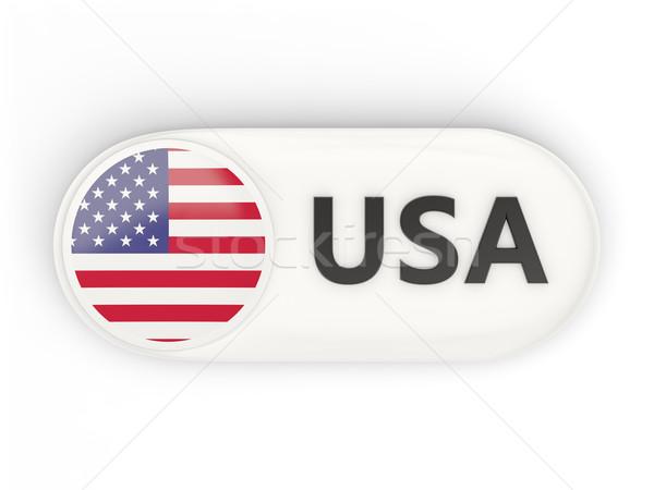 Ikon bayrak Amerika Birleşik Devletleri Amerika iso kod Stok fotoğraf © MikhailMishchenko