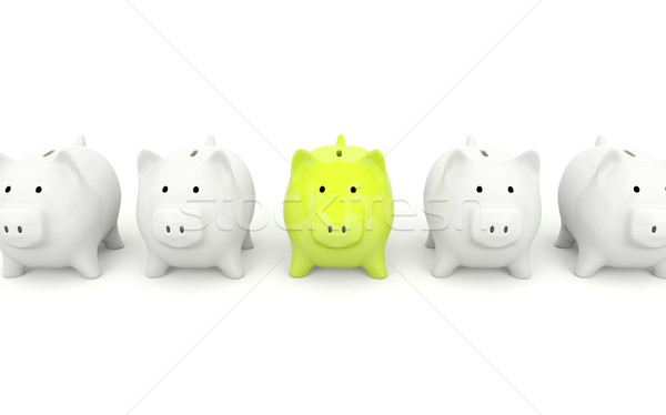 Green piggy bank Stock photo © MikhailMishchenko