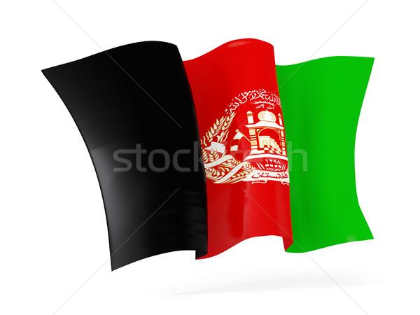 Flagge Afghanistan 3D-Darstellung isoliert weiß Stock foto © MikhailMishchenko