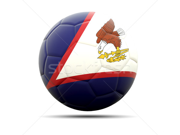 Futebol bandeira Samoa Americana ilustração 3d futebol esportes Foto stock © MikhailMishchenko