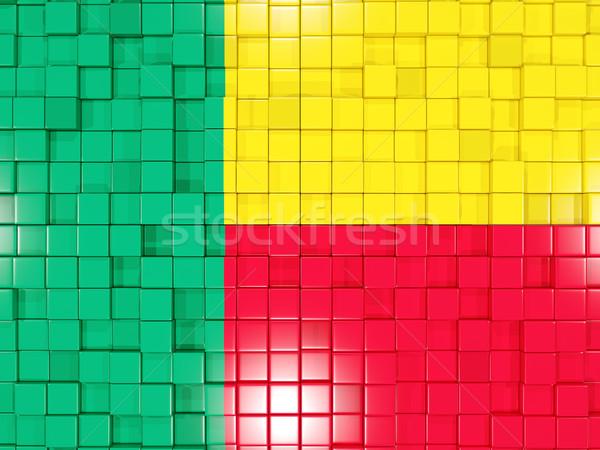 Piazza bandiera Benin illustrazione 3d mosaico Foto d'archivio © MikhailMishchenko