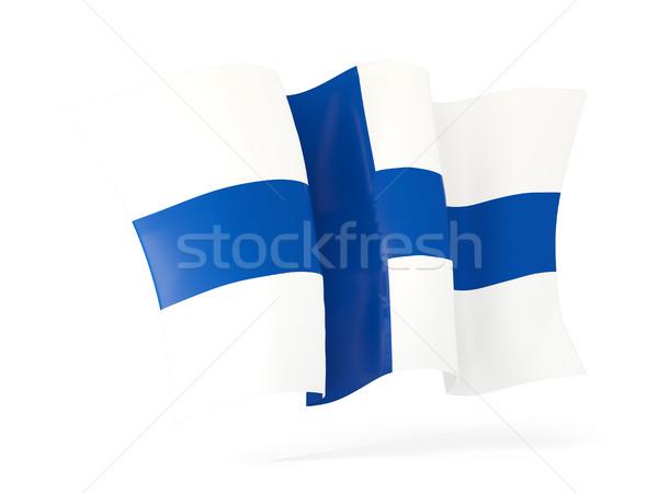 Bandeira Finlândia ilustração 3d isolado branco Foto stock © MikhailMishchenko