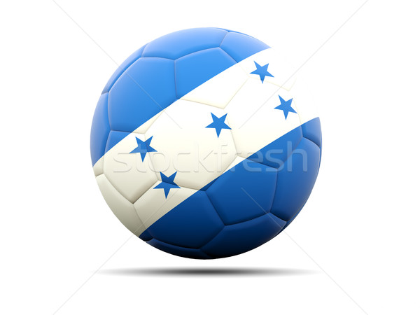 Football pavillon Honduras 3d illustration football sport Photo stock © MikhailMishchenko