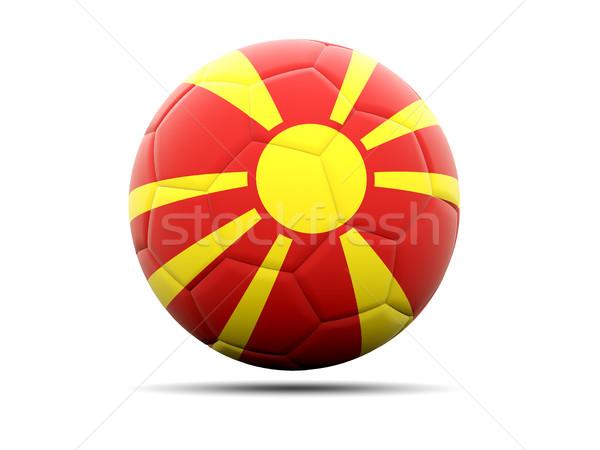 футбола флаг Македонии 3d иллюстрации Футбол спорт Сток-фото © MikhailMishchenko