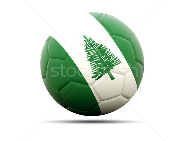 Football with flag of norfolk island Stock photo © MikhailMishchenko