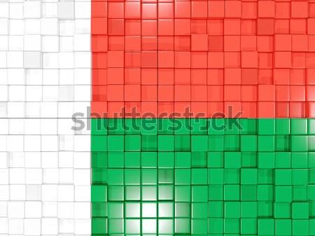 квадратный флаг Замбия 3d иллюстрации мозаика Сток-фото © MikhailMishchenko