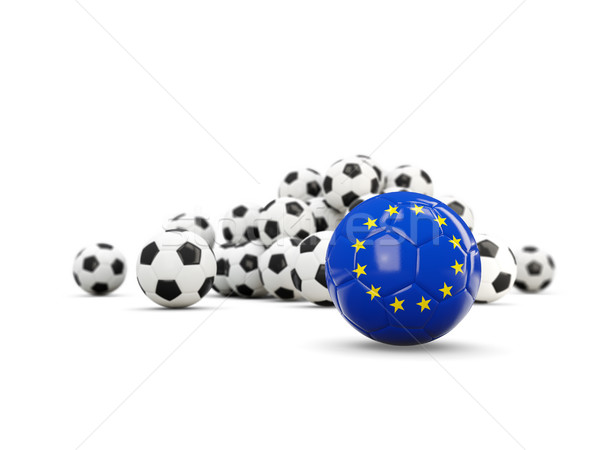 Football with flag of european union isolated on white Stock photo © MikhailMishchenko