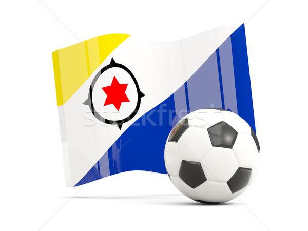 Football with waving flag of bonaire isolated on white Stock photo © MikhailMishchenko
