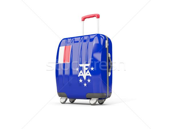 Камера флаг французский южный чемодан изолированный Сток-фото © MikhailMishchenko