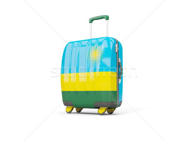 Bagages pavillon valise isolé blanche 3d illustration Photo stock © MikhailMishchenko