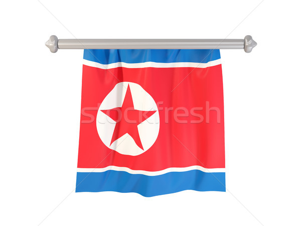 Pennant with flag of north korea Stock photo © MikhailMishchenko