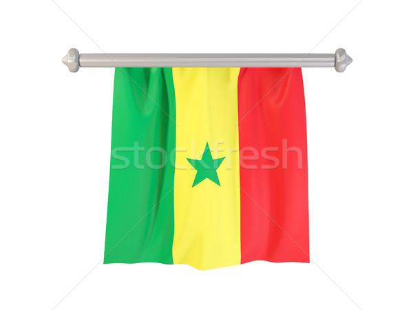 Vlag Senegal geïsoleerd witte 3d illustration label Stockfoto © MikhailMishchenko
