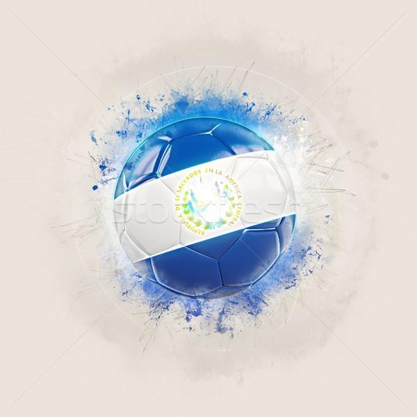Grunge futebol bandeira El Salvador ilustração 3d mundo Foto stock © MikhailMishchenko