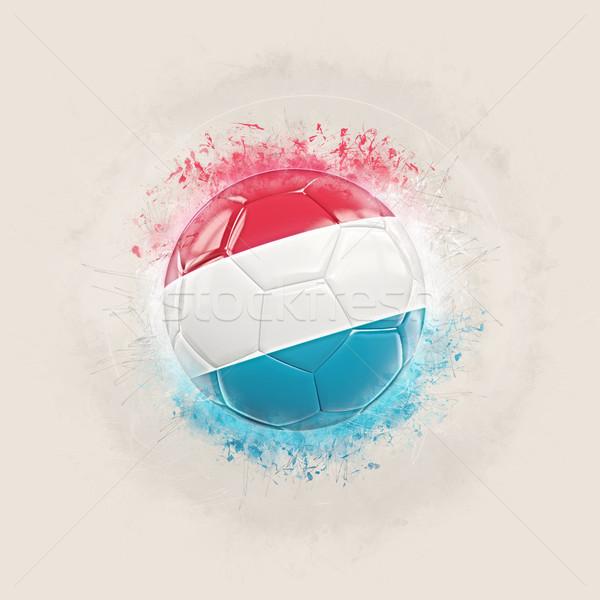 Grunge piłka nożna banderą Luksemburg 3d ilustracji świat Zdjęcia stock © MikhailMishchenko