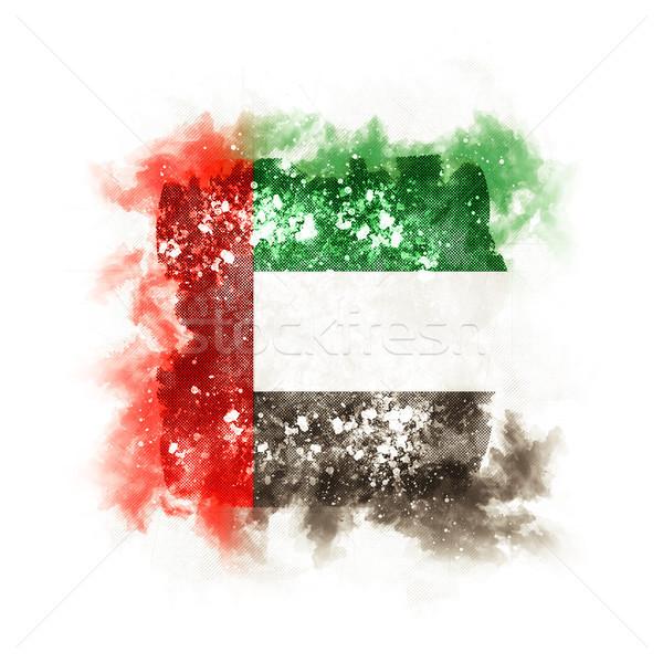 Kare grunge bayrak Birleşik Arap Emirlikleri 3d illustration Retro Stok fotoğraf © MikhailMishchenko