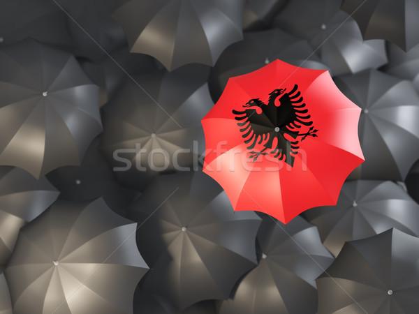 Umbrella with flag of albania Stock photo © MikhailMishchenko
