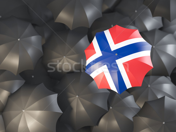 Umbrella with flag of norway Stock photo © MikhailMishchenko