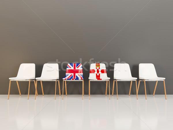Székek zászló Egyesült Királyság északi Írország csetepaté Stock fotó © MikhailMishchenko