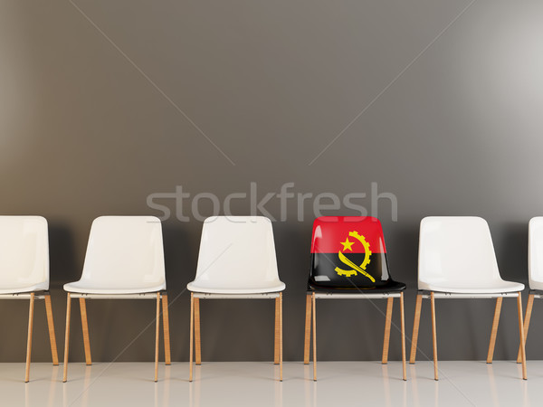 Chair with flag of angola Stock photo © MikhailMishchenko