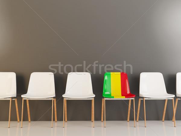 Председатель флаг Мали белый стульев Сток-фото © MikhailMishchenko