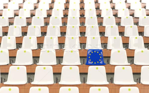 Stock photo: Stadium seat with flag of european union