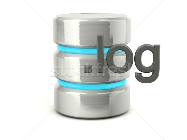 log data base icon Stock photo © MikhailMishchenko