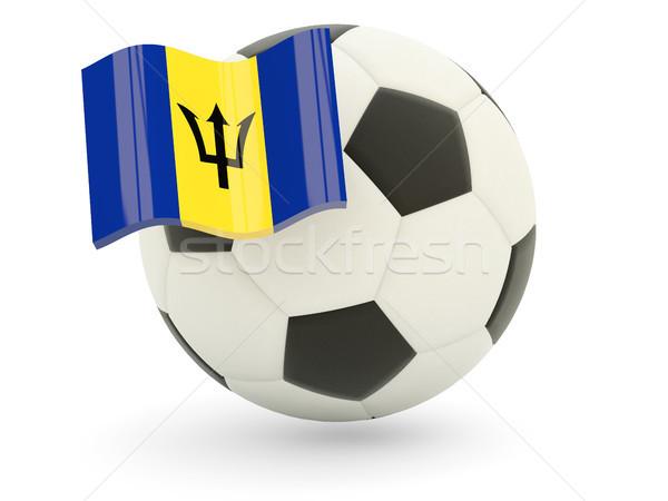 サッカー フラグ バルバドス 孤立した 白 スポーツ ストックフォト © MikhailMishchenko