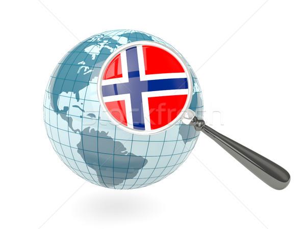 Stok fotoğraf: Bayrak · Norveç · mavi · dünya · yalıtılmış