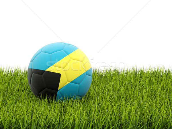Football with flag of bahamas Stock photo © MikhailMishchenko