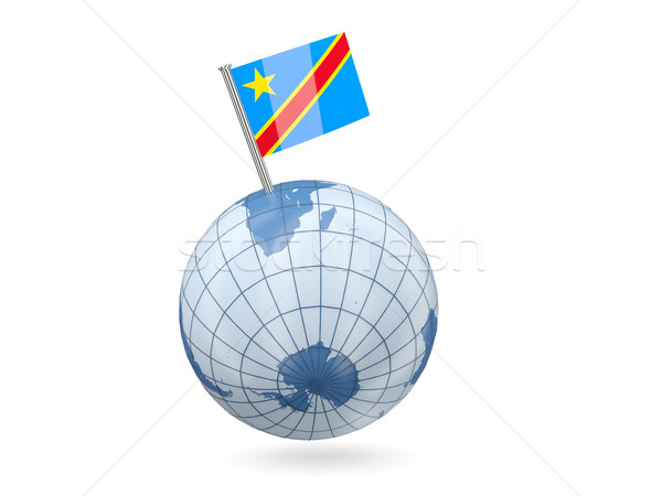 Globe with flag of democratic republic of the congo Stock photo © MikhailMishchenko