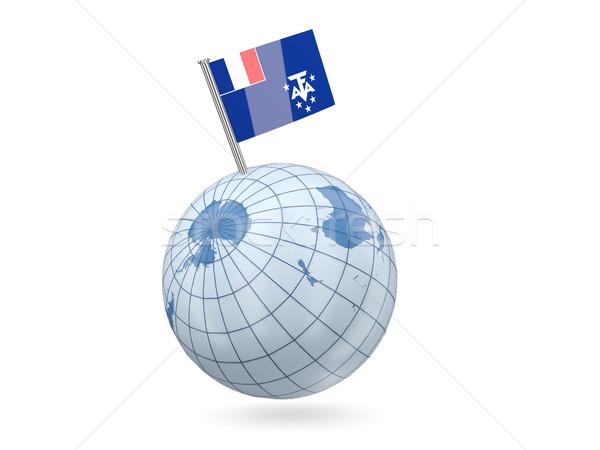 Mondo bandiera francese meridionale blu isolato Foto d'archivio © MikhailMishchenko